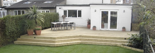 Garden Decking Ideas & Design: Wooden Hardwood Boards, Build & Lighting - Hitchin Herts