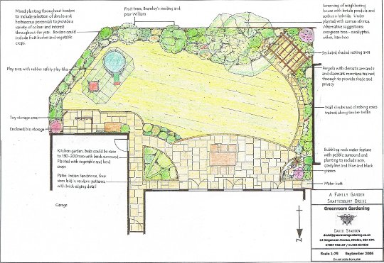 Garden design plans the village hotel garden design plans for Garden designs uk