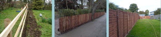 Garden Fencing Suppliers & Contracting Company: Timber Wooden Fences, Panels & Posts - Hitchin Herts
