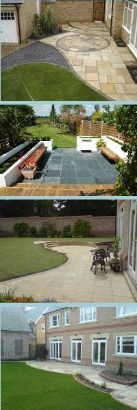 Garden Patio Paving Design Ideas: Slabs, Lights & Driveways. Suppliers Contractors - Hitchin Hertfordshire